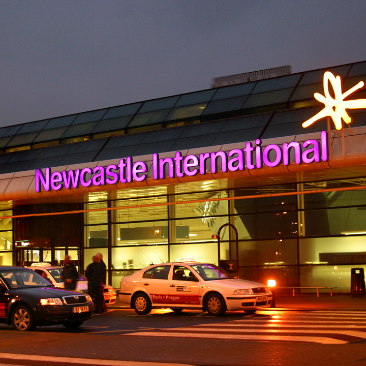 Newcastle Airport evening
