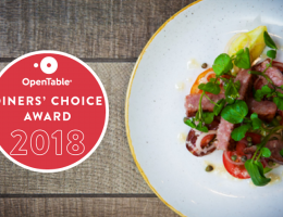 Open Table Diners Choice Award 2018