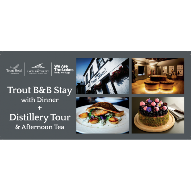 The Lakes Distillery 2 Night Hotel Stay, Tour and Afternoon Tea Gift Voucher