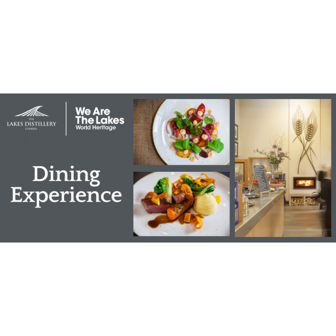 The Lakes Distillery Dining Experience (Lunch or Dinner) Gift Voucher