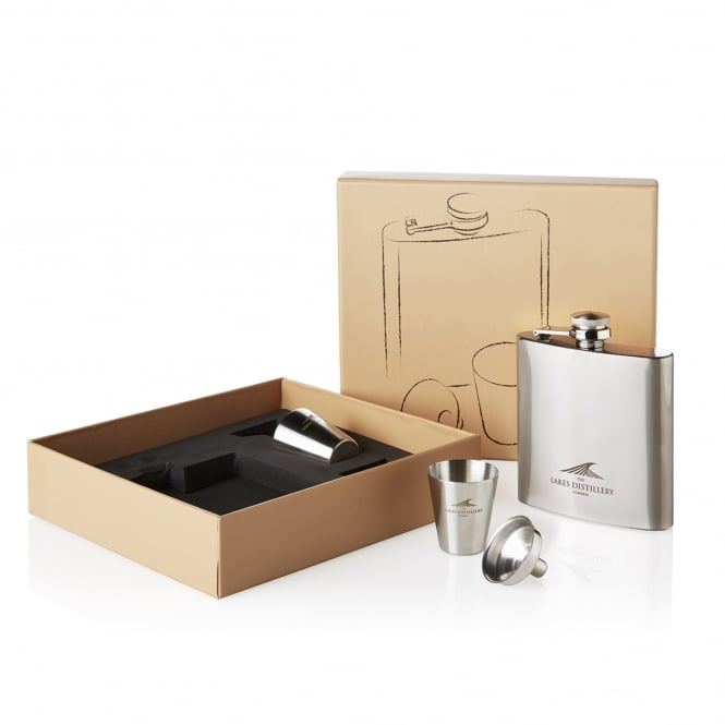 The Lakes Distillery Hip Flask Set
