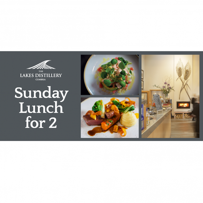 The Lakes Distillery Sunday Lunch for Two Gift Voucher