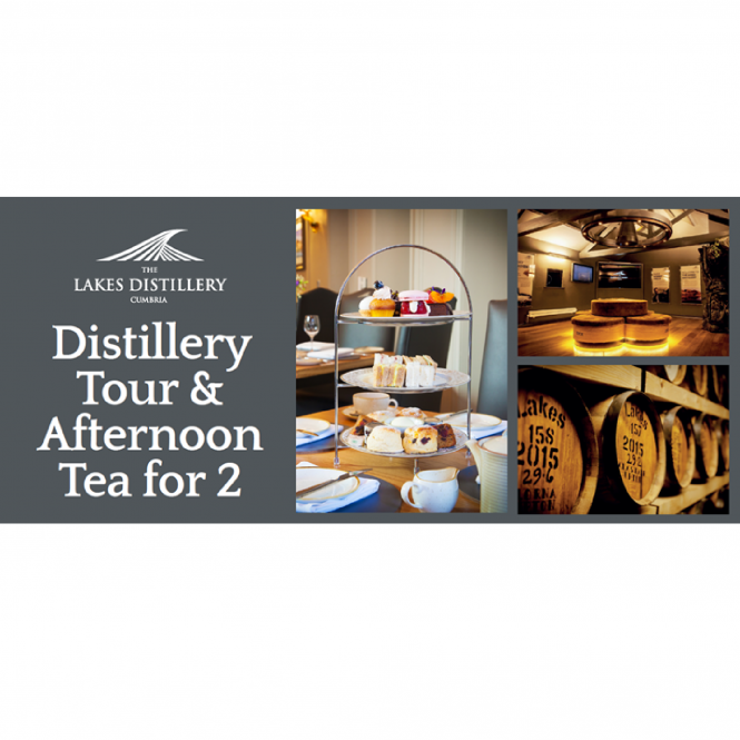 The Lakes Distillery Tour and Afternoon Tea for Two Gift Voucher