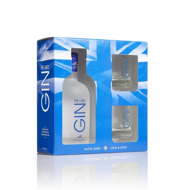 The Lakes Gin 70cl Gift Pack with Glasses