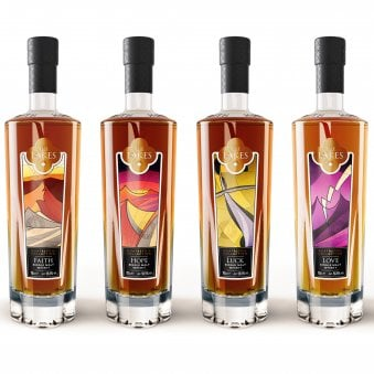 Pay over 12 months The Lakes Single Malt Quatrefoil Whisky Collection A unique and rare collection Original Price of £895 is Now Only £745.83 from £745.83